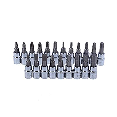 Zoostliss 46pcs 1/4-Inch Socket Set Car Repair Tool Ratchet Wrench Combo Tools Kit Auto Repairing: Home Improvement