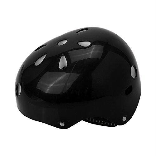 Casco deportivo para niños, ajustable, protección de seguridad, para patinar, patinete y scooter, Negro