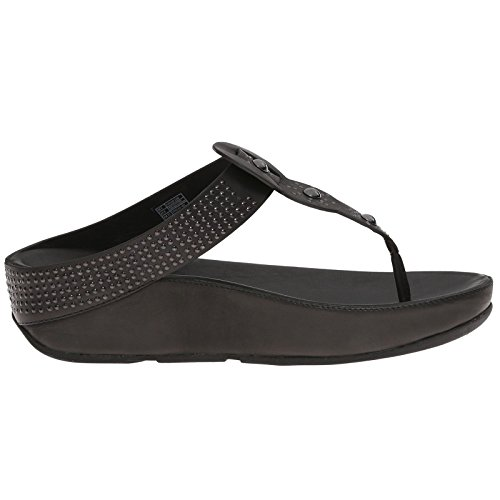 FitFlop Womens Boho Leather Sandals Black