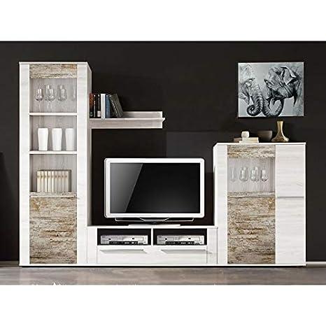Mueble De Salón Completo, con Vitrina + Mesa TV + Botellero ...