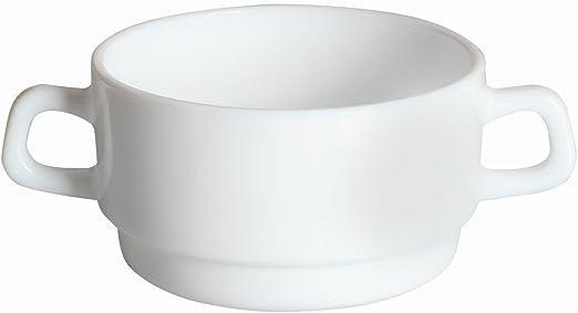 10/cm cm Dajar Taza de Sopa 320/ml Arcoroc Vidrio Blanco