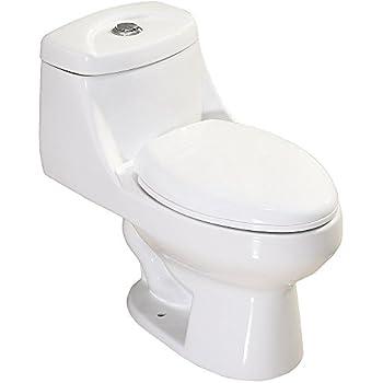 One Piece Dual Flush Toilet Amazon Com
