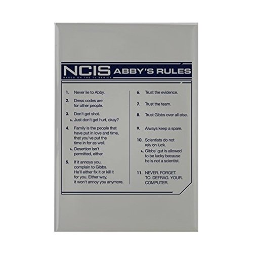 CafePress NCIS Abby's Rules Rectangle Magnet, 2