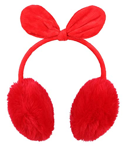 Halconia Winter Earmuffs for Girls Winter Ear muffs Large Over Ear EarMuff.Red]()