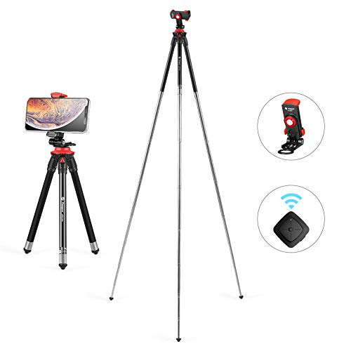 - Fotopro Tripod for iPhone, 39.5 Inch Phone Tripod, Travel Tripod with Wireless Remote, Lightweight Portable Tripod with Stand Holder for iPhone X, Samsung, Huawei
