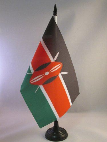 AZ FLAG Bandiera da Tavolo Kenya 21x14cm Piccola BANDIERINA KENIOTA 14 x 21 cm