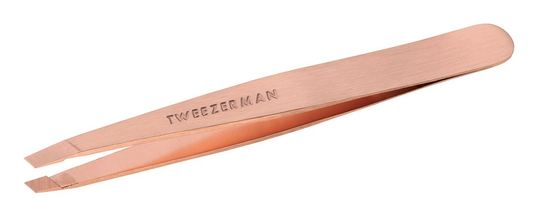 Tweezerman Rose Gold Slant Tweezer, 1.450 Ounce Tweezerman International 1256-RGR