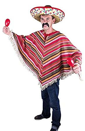 P tit Clown 91224 - Poncho mexicano para adulto 4e791f1c28d
