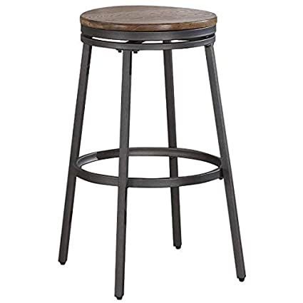 Awesome Amazon Com Bowery Hill 30 Backless Bar Stool In Slate Grey Andrewgaddart Wooden Chair Designs For Living Room Andrewgaddartcom
