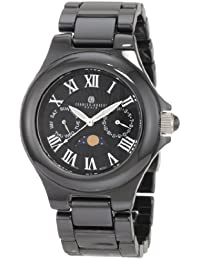 Mens 3872-B Premium Collection Black Ceramic Watch