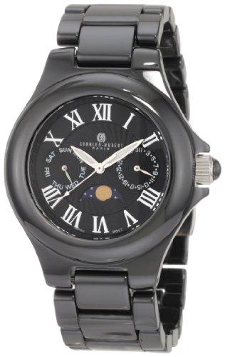 Charles-Hubert, Paris Men's 3872-B Premium Collection Black Ceramic Watch