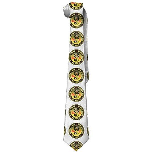 Cobra Tie - Cobra Kai Solid Silk Ties For Men Classic Formal Necktie