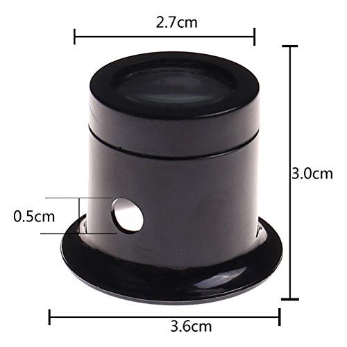 Ioffersuper 1 Pcs 10X Black Jewelers Loupe Magnifier Magnifying Eye Loop by Ioffersuper (Image #2)