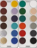 Kryolan 1108 Aquacolor Palette, 24 Colors - Color Options: K & N (K)