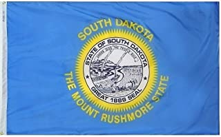 product image for 4x6' South Dakota Nylon State Flag - All Weather, Durable, Outdoor Nylon Flag