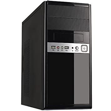 Unyka UK-6011 - Caja de ordenador (Mini-Tower, PC, SECC, SGCC, 500 W, superior) color negro: Unyka: Amazon.es: Informática