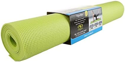 Amazon.com : Athletic Works Yoga Mat Lime Green exercise 68 ...