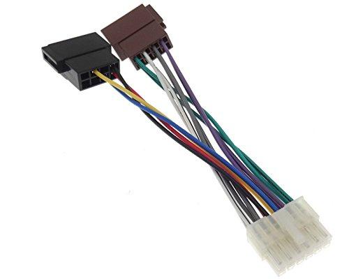 06 Autoradio Kabel Radio Adapter Stecker ISO Anschlusskabel Kabelbaum PIONEER