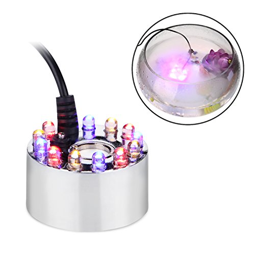 Mist Maker Water Fountain Pond Fogger With 12 Led Light