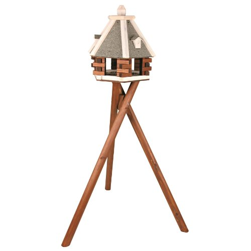 Gazebo Roof Construction - Trixie Pet Products Nordic Wooden Bird Feeder with Stand