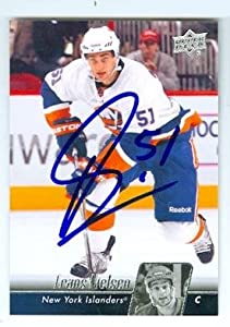 Autograph 212291 New York Islanders Sc 2011 Upper Deck No. 374 Frans Nielsen Autographed Hockey Card