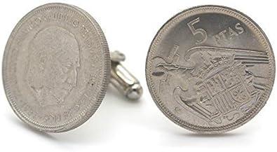 Gemelos Piezas de Monedas Auténticas España 5 Pesetas: Amazon.es ...