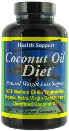 Health Support Coconut Oil Diet - 180 Softgels, 5 pack by Health Support by Health Support