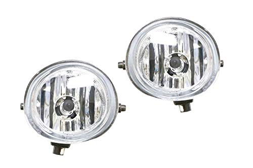 iJDMTOY Pair of Clear Lens Halogen Fog Lamps For Mazda 2 3 6 CX-5 CX-7 MX-5 etc, Driver Passenger Side Assembly w/ (2) 55W H11 Halogen Bulbs