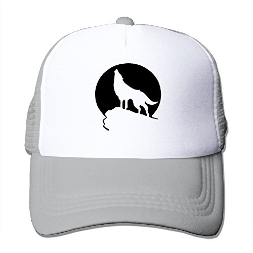 ForRose Howling Wolf Moon Unisex Mesh Hat Baseball Caps Cool Grid Hat Adjustable Trucker - Hat Wolf Trucker