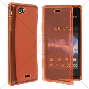 KLtrade Jelly Case ST26I - Funda para Sony Xperia J, naranja