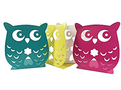 Owl Wonderland Bookends - Cute Lightweight Baby Owls - Great Decor for Little Ones Nursery, Childrens Bedroom, Kids Playroom or Fun and Unique Owllover Gift