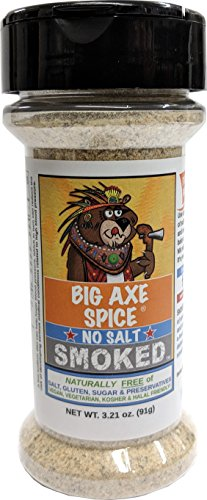 Big Axe Spice SMOKED Garlic - Sodium Free Herb Seasoning Spice Blend - No Salt Sugar Free Gluten Free Preservative Free - Vegetarian - Vegan - Paleo - Kosher & Halal Friendly
