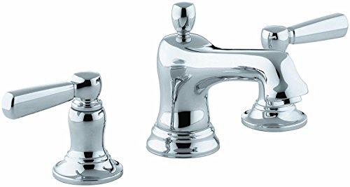 KOHLER K-10577-4-CP Bancroft Widespread Lavatory Faucet, Polished (Bancroft Bathroom Faucet)