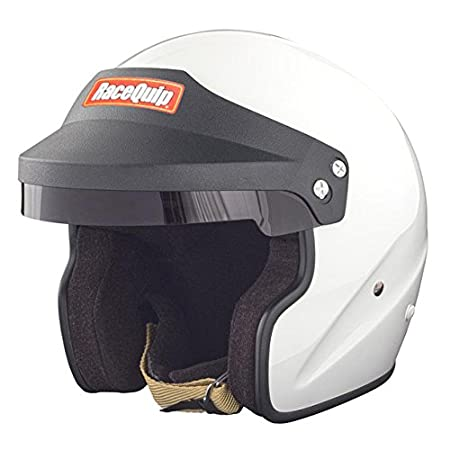 RaceQuip 253116 Gloss White X-Large OF15 Open Face Helmet (Snell SA-2015 Rated)