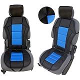 CSC203 - coussin de siège voiture , housse de siège auto Protecteur de siège , coussin cover auto Couvre Siège voiture , Retour Coussin noir / Bleu