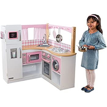 Amazon Com Kidkraft Grand Gourmet Corner Kitchen Toys