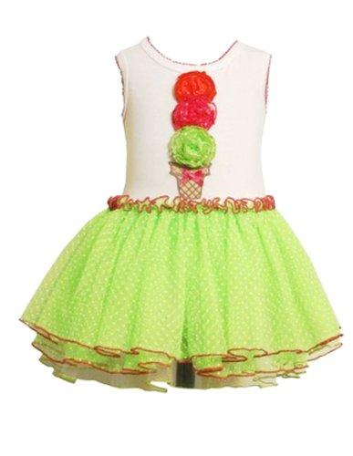Bonnie Jean -Girls Lime Icecream Tutu Dress (3T)