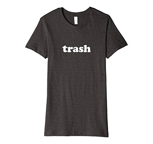 Womens White Trash T-Shirt | Lazy Halloween Costume Medium Dark Heather