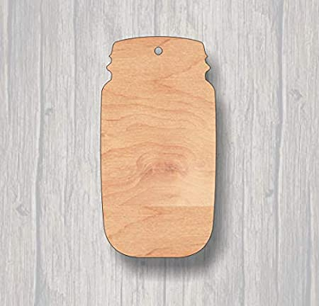 Cartel de Madera con diseño de Tarro de Mason en Blanco ...