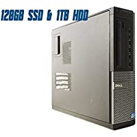 Dell OptiPlex 9010 DT (Intel Quad Core i7-3770 @ 3.40 GHz Up To 3.90 GHz, 8 GB RAM, 128 GB SSD + 1 TB HDD, DVD, VGA, Display Port, Windows 10 Pro) (Certified Refurbished)