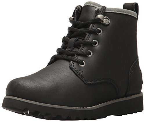 UGG Boys K Maple II Lace-up Boot, Black, 11 M US Little (Ugg Lace Up Boots)