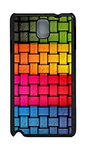 Samsung Note 3 Case Colorful Weave PC Custom Samsung Note 3 Case Cover Black