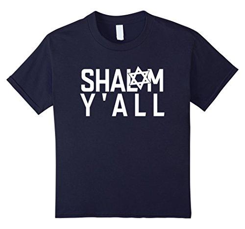 Kids SHALOM Y'AL T-Shirt Tee Puzzling Jewish Israel Gift Design Idea 6 Navy