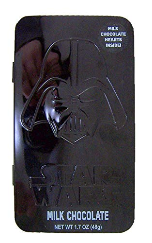 Valentine's Day Star Wars Darth Vader Candy Tins with Milk Chocolate Hearts