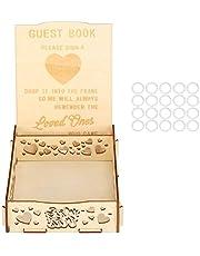 Hart patroon houten bruiloft kaart doos gastenboek houten gastenboek voor baby shower verjaardag afstuderen ceremonie bruiloft handtekening benodigdheden