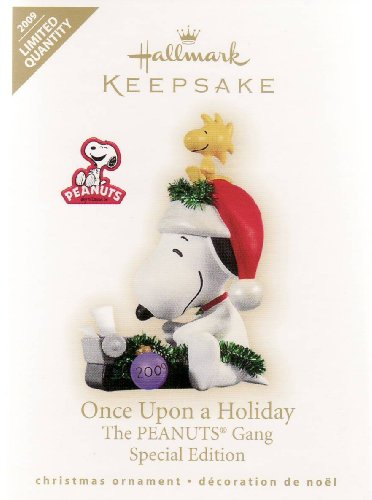 Hallmark Ornament - Once Upon a Holiday - 2009 Limited Quantity Snoopy at - Glass Ornament Snoopy