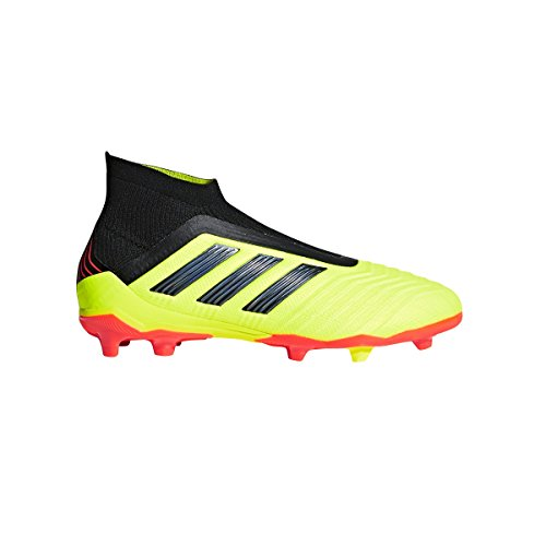 adidas Kid's Predator 18+ Firm Ground Soccer Cleats (6) Solar Yellow/Core Black/Solar Red
