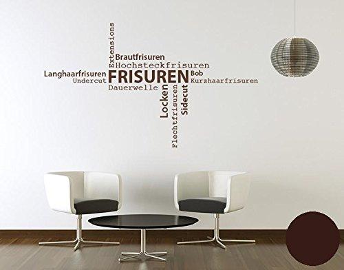 Klebefieber Wandtattoo Wandtattoo Wandtattoo Frisuren B x H  130cm x 76cm Farbe  Dunkelgrau B0711DB4TK Wandtattoos & Wandbilder d04167