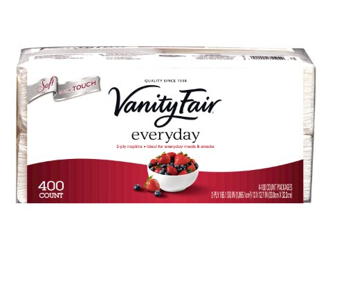 Vanity Fair Everyday, 400 Count (Pacific Luncheon Napkins)