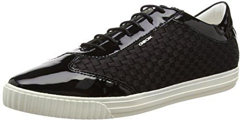Geox D Amalthia B, Women's Loafers Black (Black (Black))